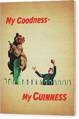 My Goodness My Guinness 2 Wood Print by Mark Rogan