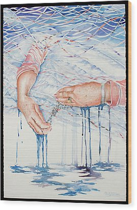 My Mother's Hands Wood Print by Carolyn Coffey Wallace