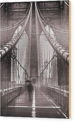 Mystery Man Of Brooklyn Wood Print by Az Jackson