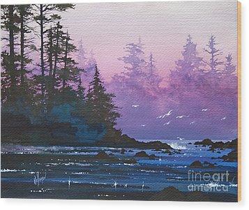 Mystic Shore Wood Print by James Williamson