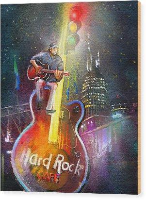 Nashville Nights 01 Wood Print by Miki De Goodaboom