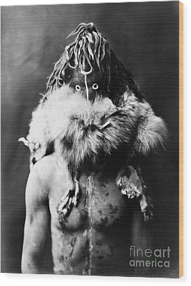 Navajo Mask, C1905 Wood Print by Granger
