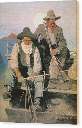 N.c. Wyeth: The Pay Stage Wood Print by Granger