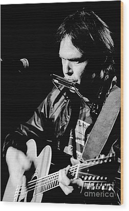 Neil Young 1986 #2 Wood Print by Chris Walter