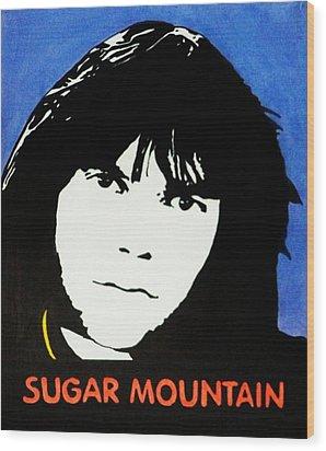 Neil Young Sugar Mountain Wood Print by Kenneth Regan