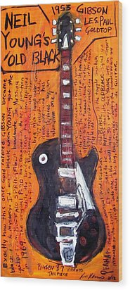 Neil Young's Old Black Wood Print by Karl Haglund