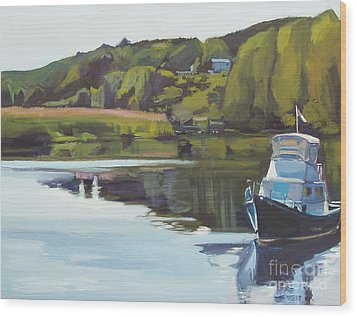 Neponset River Morning Wood Print by Deb Putnam