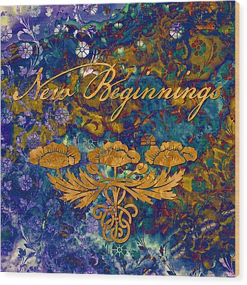 New Beginnings Wood Print by Susan Ragsdale
