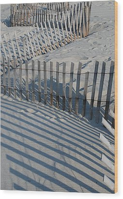 New England Fence Wood Print by Gene Sizemore