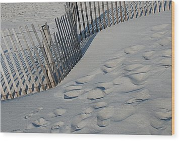 New England Footprints Wood Print by Gene Sizemore