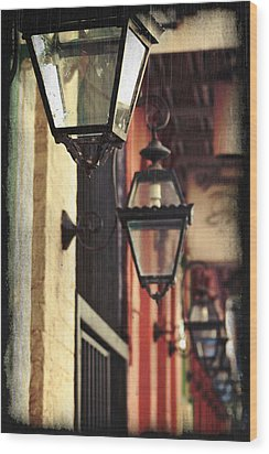 New Orleans Gas Lamps Wood Print by Jarrod Erbe