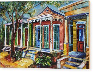 New Orleans Plain And Fancy Wood Print by Diane Millsap
