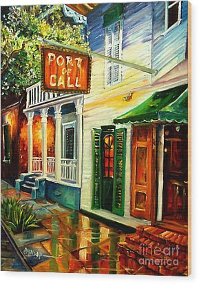 New Orleans Port Of Call Wood Print by Diane Millsap
