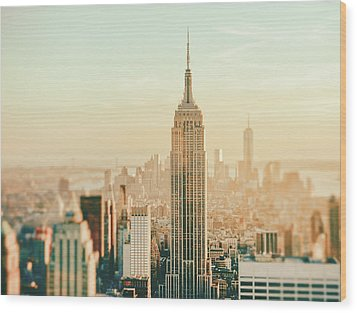 New York City - Skyline Dream Wood Print by Vivienne Gucwa