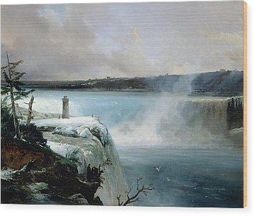 Niagara Falls Wood Print by Jean Charles Joseph Remond