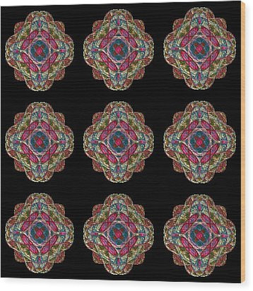 Nine Medallions Wood Print by Thomas Smith
