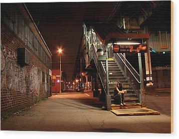 No Entry Wood Print by Jason Hochman