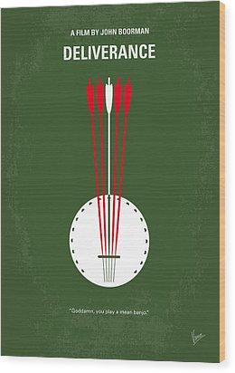 No020 My Deliverance Minimal Movie Poster Wood Print by Chungkong Art