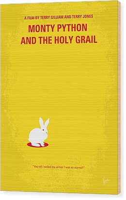 No036 My Monty Python And The Holy Grail Minimal Movie Poster Wood Print by Chungkong Art