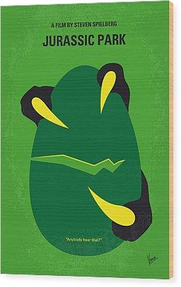 No047 My Jurassic Park Minimal Movie Poster Wood Print by Chungkong Art