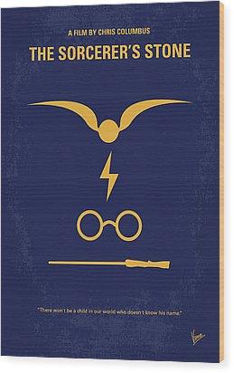 No101 My Harry Potter Minimal Movie Poster Wood Print by Chungkong Art