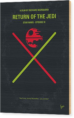 No156 My Star Wars Episode Vi Return Of The Jedi Minimal Movie Poster Wood Print by Chungkong Art