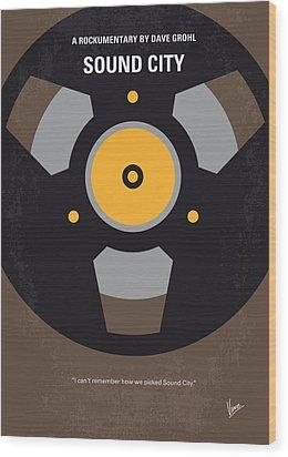 No181 My Sound City Minimal Movie Poster Wood Print by Chungkong Art
