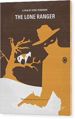 No202 My The Lone Ranger Minimal Movie Poster Wood Print by Chungkong Art
