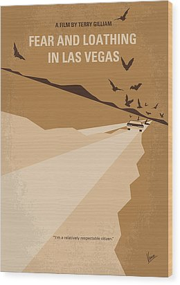 No293 My Fear And Loathing Las Vegas Minimal Movie Poster Wood Print by Chungkong Art