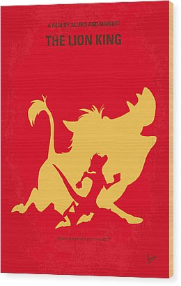 No512 My The Lion King Minimal Movie Poster Wood Print by Chungkong Art