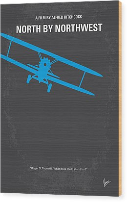 No535 My North By Northwest Minimal Movie Poster Wood Print by Chungkong Art
