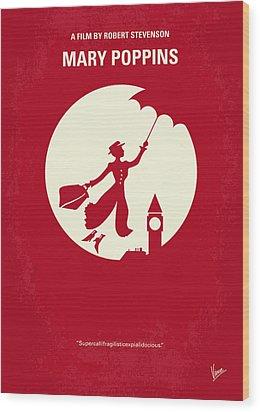 No539 My Mary Poppins Minimal Movie Poster Wood Print by Chungkong Art
