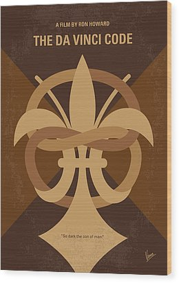 No548 My Da Vinci Code Minimal Movie Poster Wood Print by Chungkong Art
