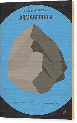 No695 My Armageddon Minimal Movie Poster Wood Print by Chungkong Art