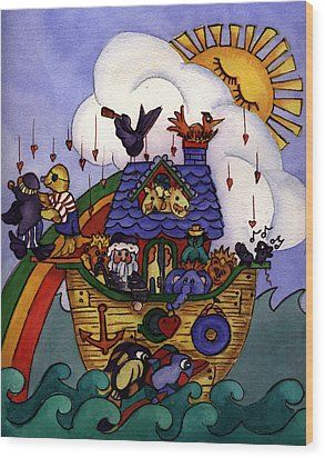 Noah's Ark Wood Print by Patricia Halstead