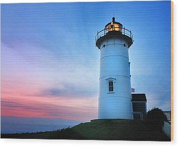 Nobska Point Lighthouse Wood Print by Thomas Schoeller