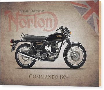 Norton Commando 1974 Wood Print by Mark Rogan