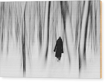 Norwegian Wood  Wood Print by Floriana Barbu