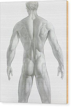 Nude 7 Wood Print by Valeriy Mavlo
