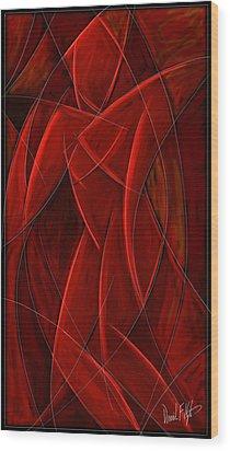 Nude Dancer Wood Print by David Kyte