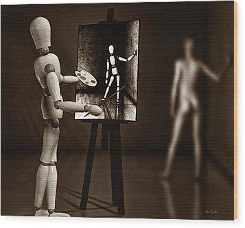 Nude Model  Wood Print by Bob Orsillo