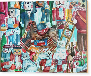Nutcracker Suite Wood Print by Mindy Newman