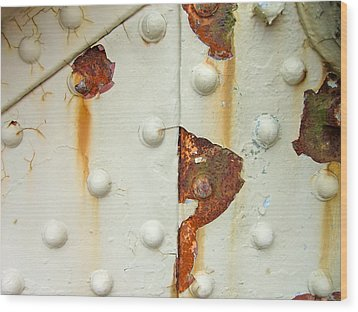 Nuts Bolts And Rust Wood Print by Richard Mansfield