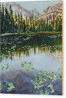 Nymph Lake Wood Print by Mary Benke