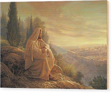 O Jerusalem Wood Print by Greg Olsen