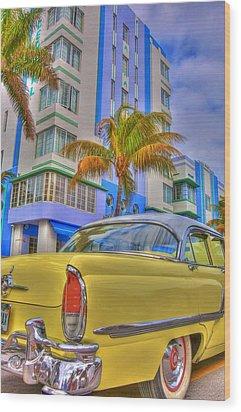 Ocean Drive Wood Print by William Wetmore