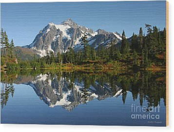October Reflection Wood Print by Winston Rockwell