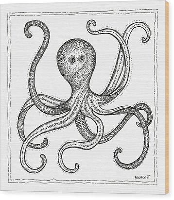 Octopus Wood Print by Stephanie Troxell