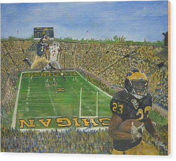 Ohio State Vs. Michigan 100th Game Wood Print by Travis Day
