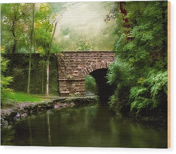 Old Country Bridge Wood Print by Jessica Jenney